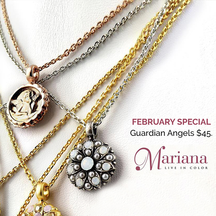 $45 Mariana Guardian Angel Pendant - February Special!
