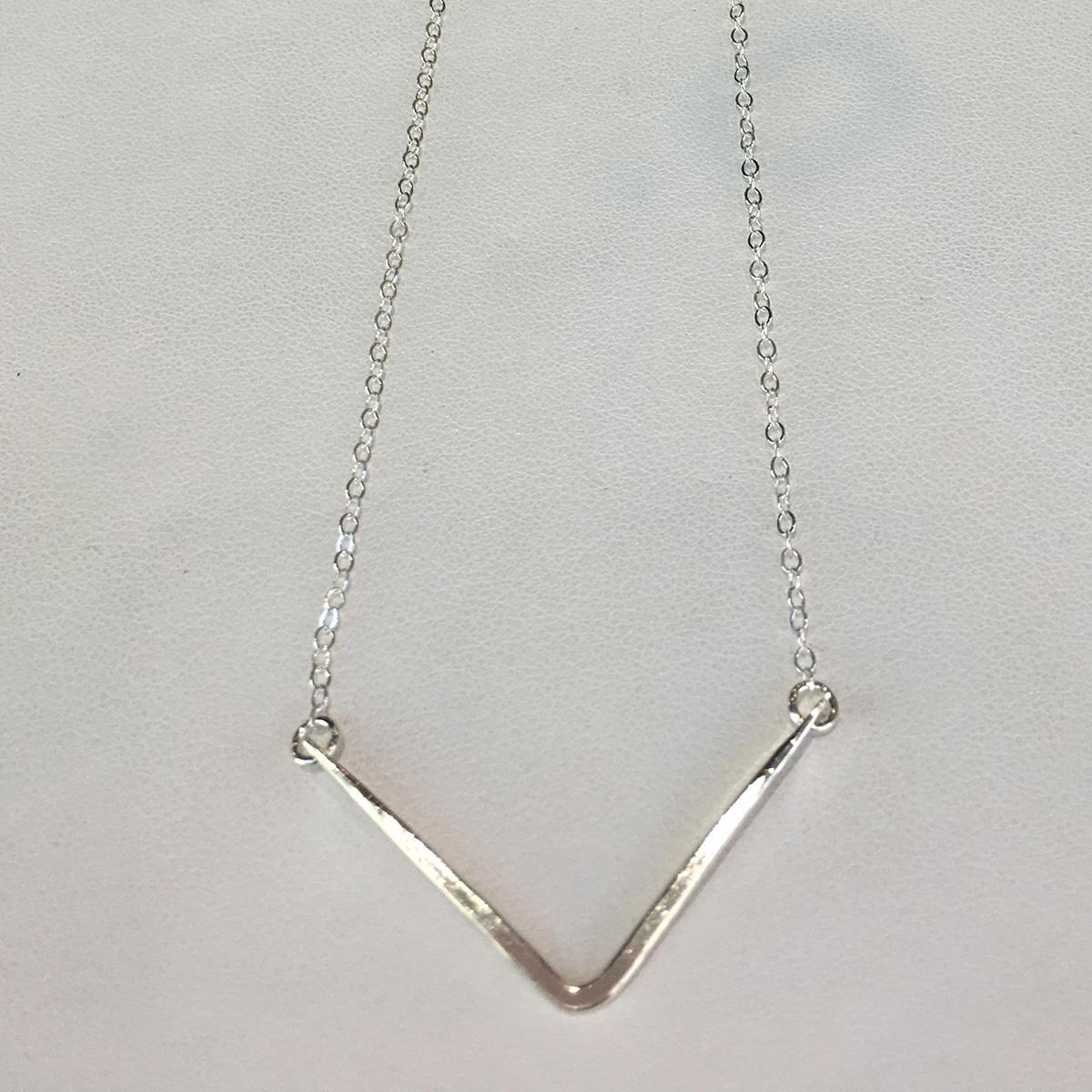 Ruby Lena Chevron Necklace