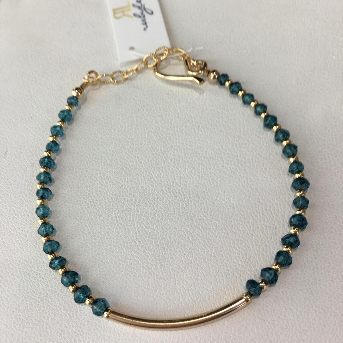 Ruby Lena Gemstone Bracelet with Tube Center