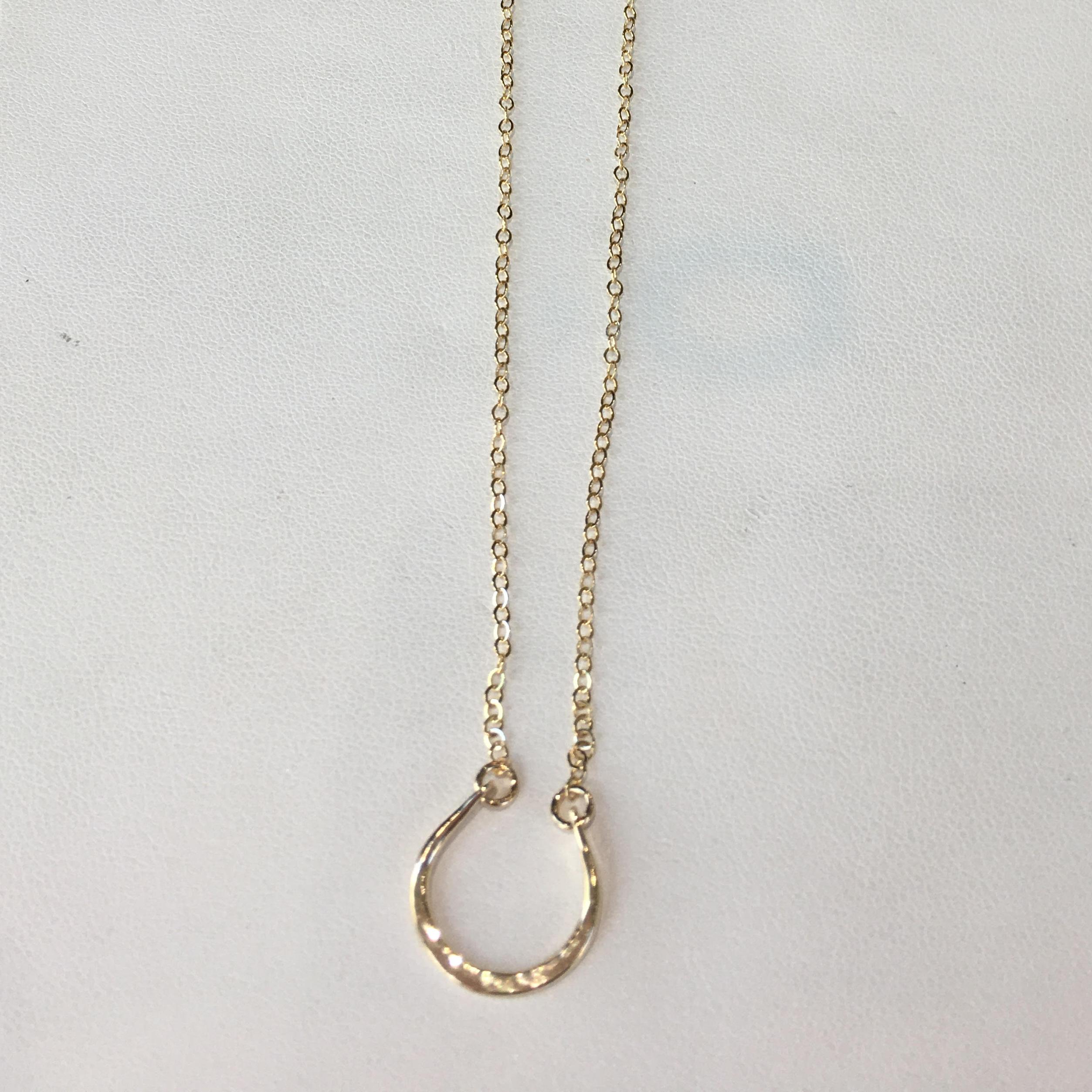 Ruby Lena Horseshoe Necklace