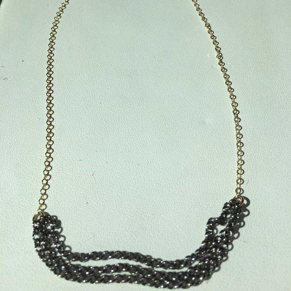 Ruby Lena Multi Chain Bib Necklace