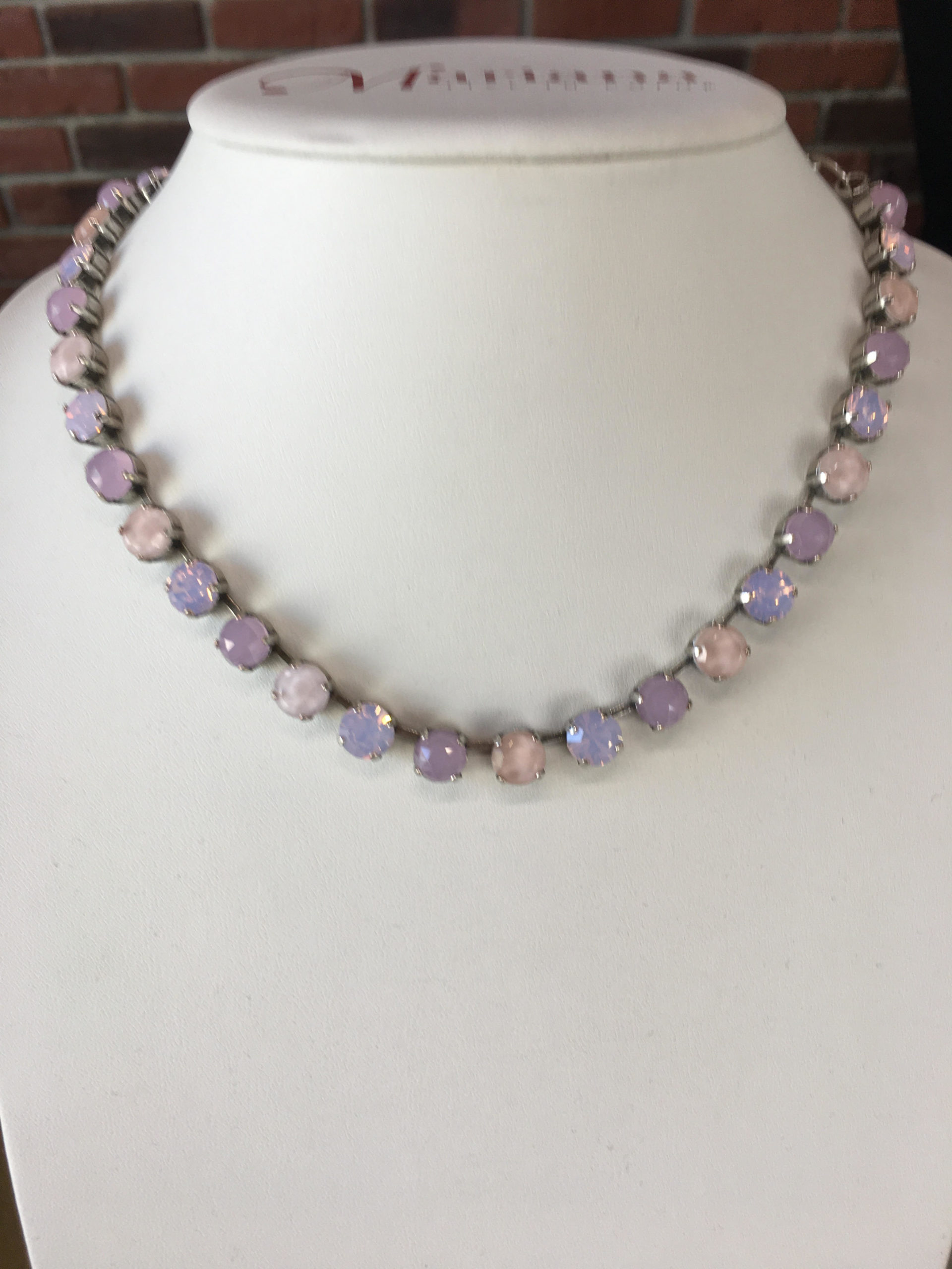 Mariana Swarovski crystal necklace in silver plate
