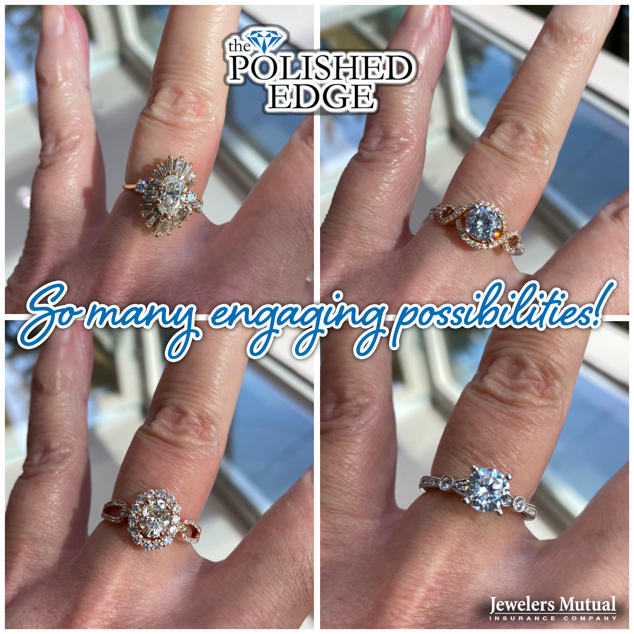Planning a Holiday Engagement? Contact us or come into the store to view our selection. Every ring comes with a 1-year guarantee or lifetime guarantee if insured through our partner Jewelers Mutual. Free parking available at The President Hilton parking garage.
